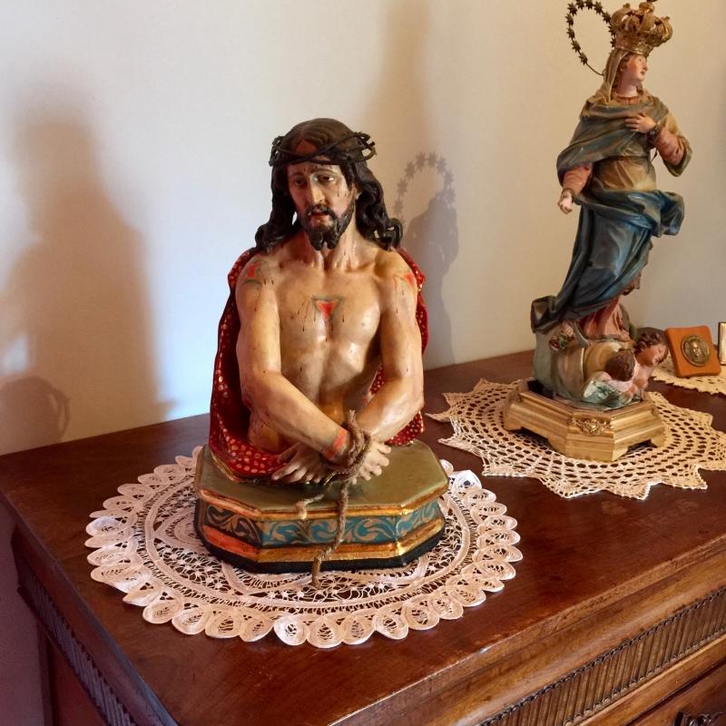 Dettagli galleria ecce homo statua lignea settecento for Valutazione antiquariato