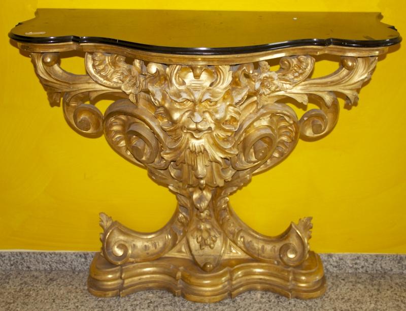 Dettagli galleria barocco console dorata for Valutazione antiquariato