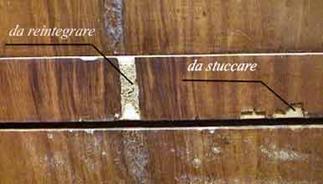 Restauro legno tarlato